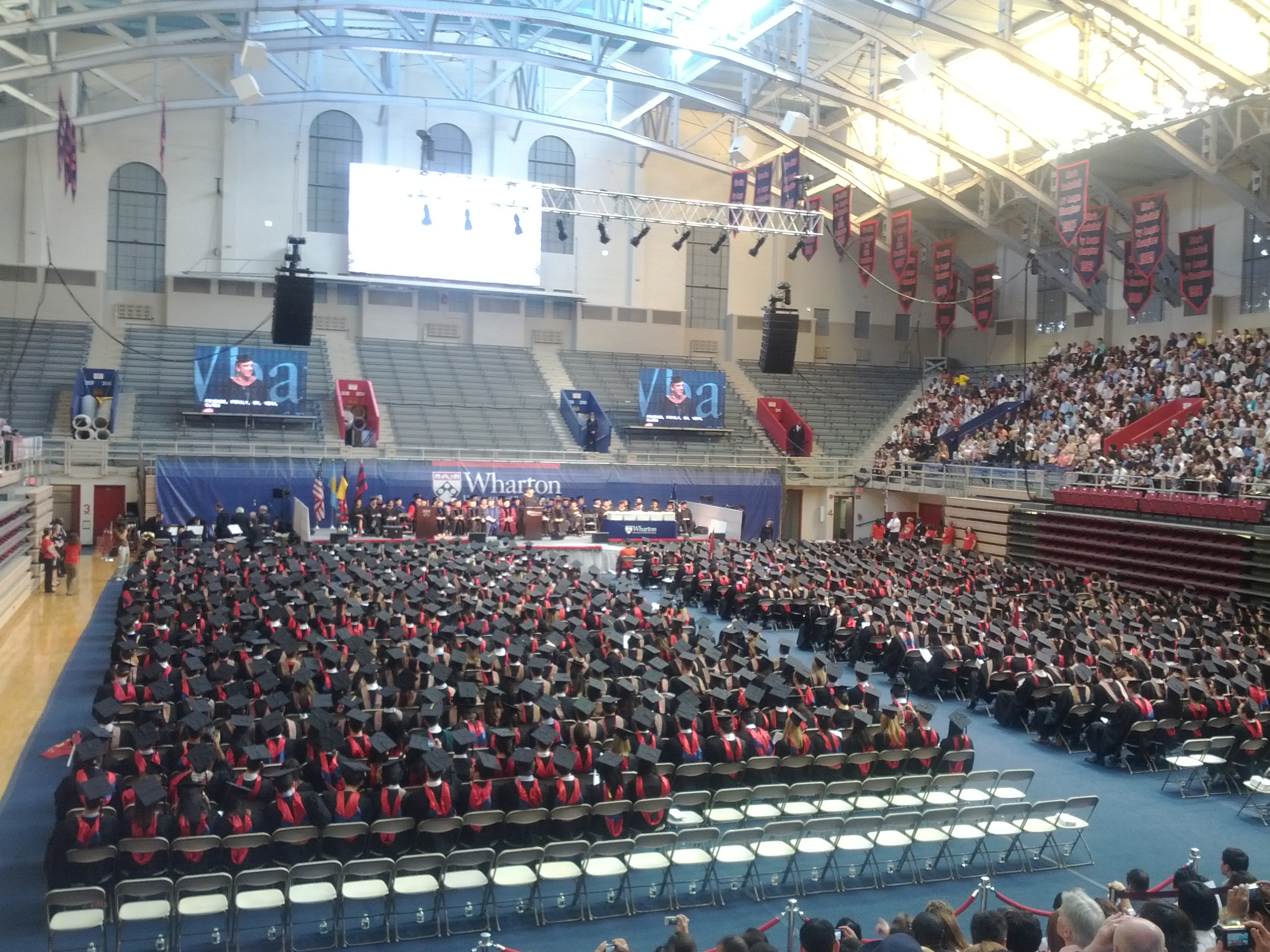 wharton mba graduation in the palestra frankly penn 850 wharton