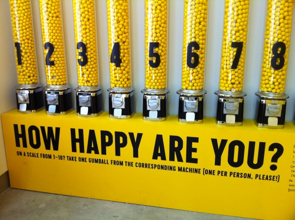 Happiness Measured in Gum Balls