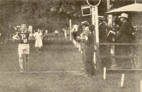 George Washington Orton (1873-1958), winning his Olympic gold medal, July 1900
