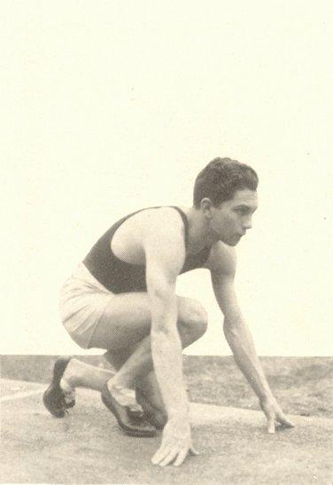 William Arthur Carr (1909-1966), B.S. in Economics 1933, at the starting line