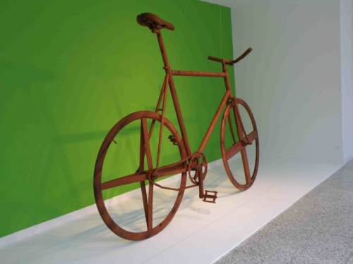 Wooden Bike Sculpture