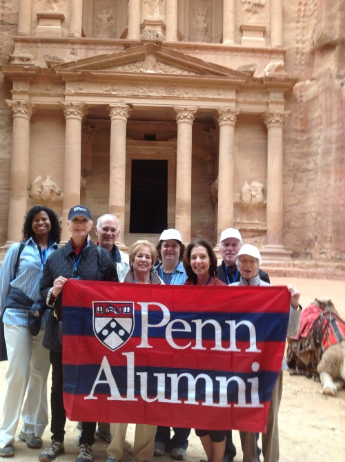 Move over, Indiana Jones! Penn alumni step into the country of Jordan to visit the beautiful, ancient stone city of Petra.