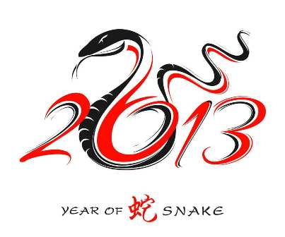 2013 is the year of the snake.