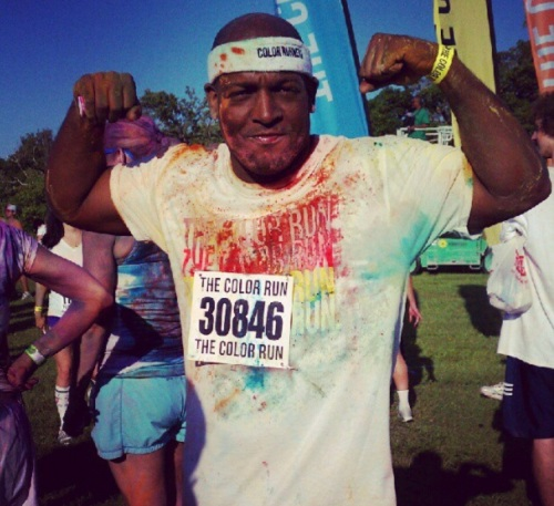 "Steve, ""after,"" 2012 Color Run."