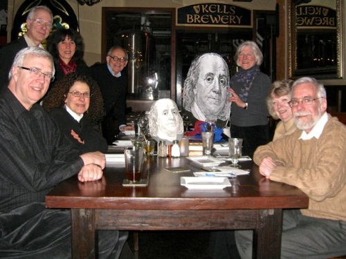 The Penn Club of Portland celebrates Ben Franklin on January 17, 2013.
