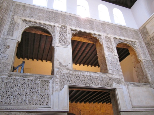 The interior of the synagogue in Cordoba.