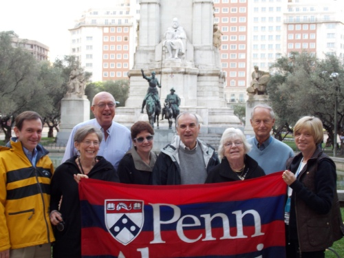 Quakers with Don Quixote and Sancho Panza in Madrid