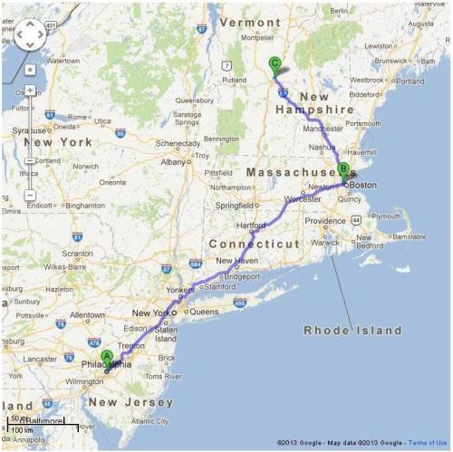 Penn (A) to Harvard (B) to Dartmouth (C)