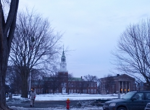 Snowy Dartmouth.