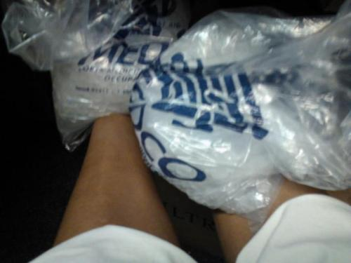 Post practice ice on the ankles. Just like old times.