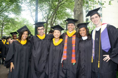 The roommates at graduate in 2012.