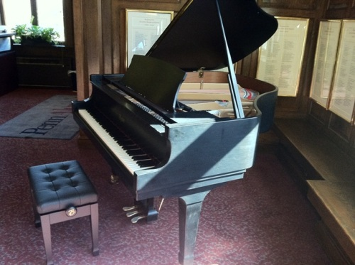 The inviting piano in Sweeten.