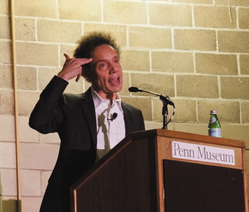Malcolm Gladwell. Photo credit: Kathryn Landsman from the DP.