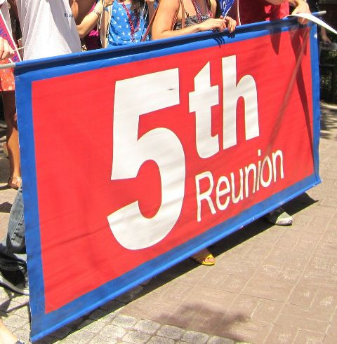 Relive Hey Day by marching down Locust Walk with other 08ers.