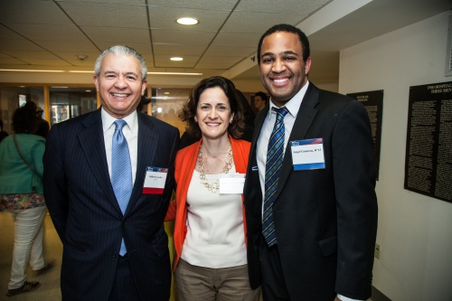 ALA Student Leadership Award Winner, Angel Contera,l W'13 with Patricia Martin and Gil Casellas.