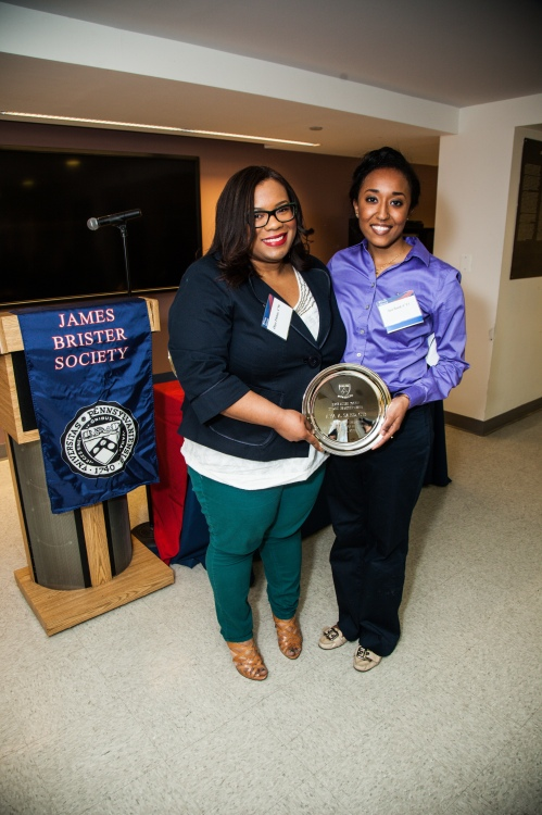 BAS Student Award Winner, Aya Saed, C'13 with Onyx Finney.