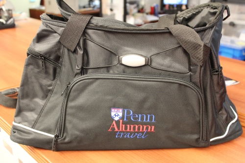 The perfect travel bag. Platinum level Franklin Flyers will benefit from this great carry-on tote.
