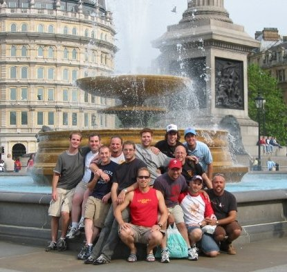 Obligatory Team shot whilst in London, with Ryan, C'95 and Weinstein, G'09.