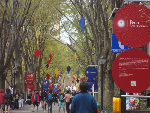 The view on Locust Walk today.