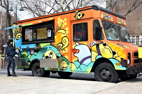 The Tyson Bees food truck.