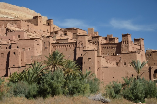 Ait ben-Haddou, a village of tightly packed kasbahs. Photo by Penn alumnus Murray Sherman, GR'69.