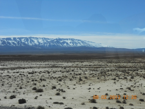 On the way to Erfoud and the Sahara- snow! Photo by Professor Thomas Max Safley.
