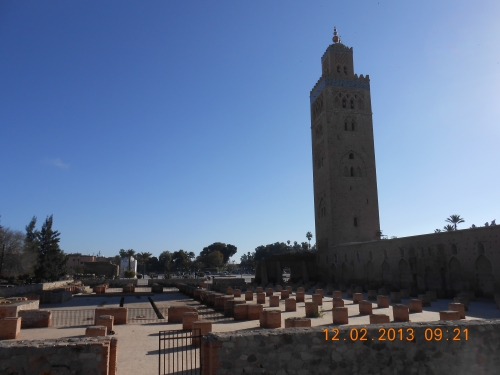 The Koutoubia Mosque of Marrakech. Photo by Professor Thomas Max Safley.