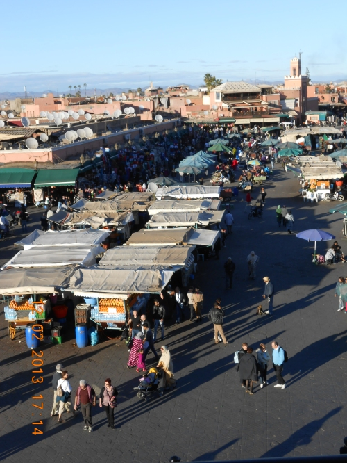 The souk, Djemaa El-Fna. Photo by Professor Thomas Max Safley.