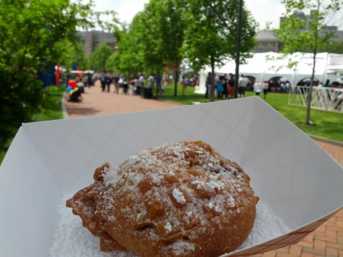 Fried Oreo at the Saturday picnic of Alumni Weekend 2013.
