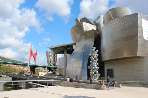 The Guggenheim Museum by Frank Gehry in Bilbao, Spain.