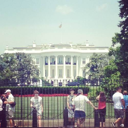 The White House on a hot summer day.
