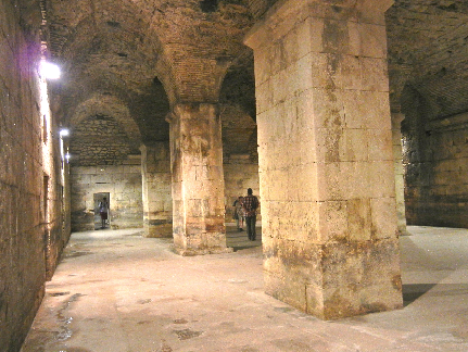 The ruins of Diocletian's palace.