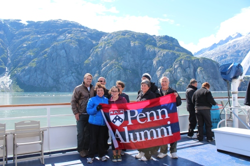 Penn alumni on board the ship.
