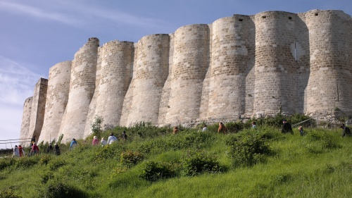The undulating Moorish façade of Chateau Gaillard.