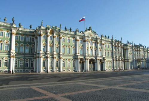 The Hermitage Museum in St. Petersburg.