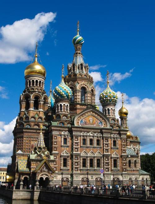 "The shrine church of ""The Savior on the Spilled Blood."""