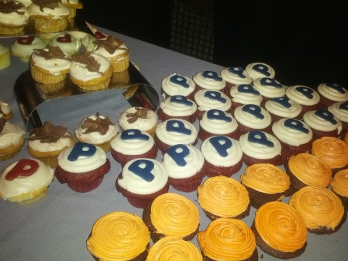 Penn P cupcakes at the Dance Party.