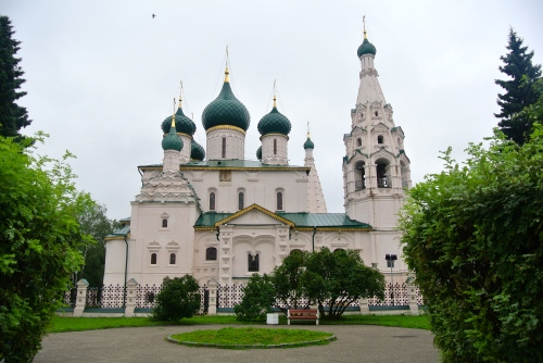 St. Elijah's Church on the Central Square of Yaroslavl.
