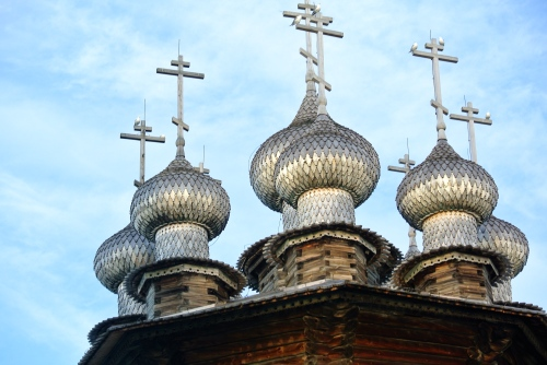 Close-up of the domes.