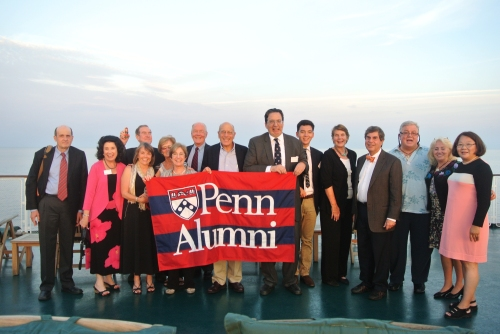 The superb Penn group aboard the M.S. Volga Dream.