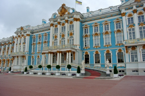 The Catherine Palace at Tsarskoye Selo, St. Petersburg.