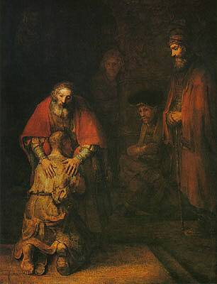 Return of the Prodigal Son by Rembrandt van Rijn (c. 1669). One of the many masterpieces held at the Hermitage Museum.