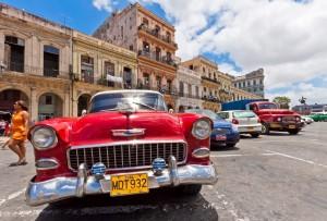 Vintage cars in Cuba.