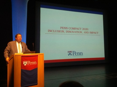 David Cohen, L'81, Chairman of the Board of Trustees. Annenberg Center for the Performing Arts, Harold Prince Theatre