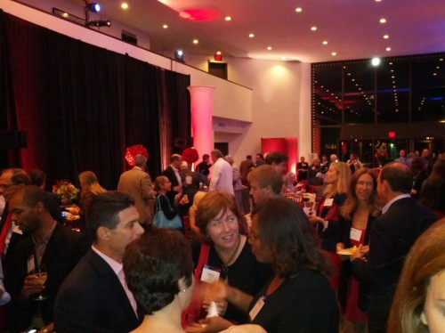 The Annenberg Lobby was packed! Alumni were sampling Penn caterers available for their reunion