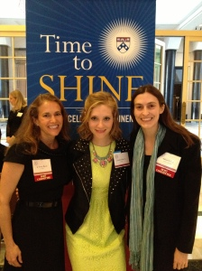 Terry Baris, C'84, Jess Garvey, C'09, and Aileen Level, C'99, GED'00, members of the Penn Club LA board and Time To Shine host committee are ready to welcome everyone.