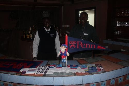 Preparing for our Penn reception at the beautiful Lake Naivasha Sopa Lodge