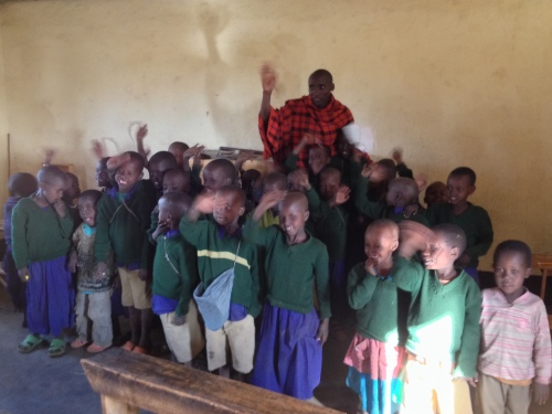 Photo from our visit to the Masai village kindergarten in Tanzania