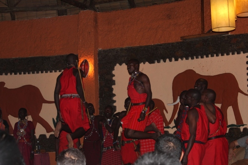 Traditional Masai jumping dance – a competitive jumping ritual men do to showcase their strength and agility to women in the tribe