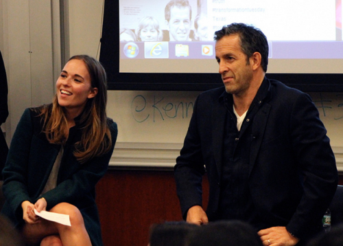 5:15 PM- Designer and social activist Kenneth Cole stops by Penn to discuss his new book with College Fashionista founder Amy Levin.  Photo by Jillian Kaltman